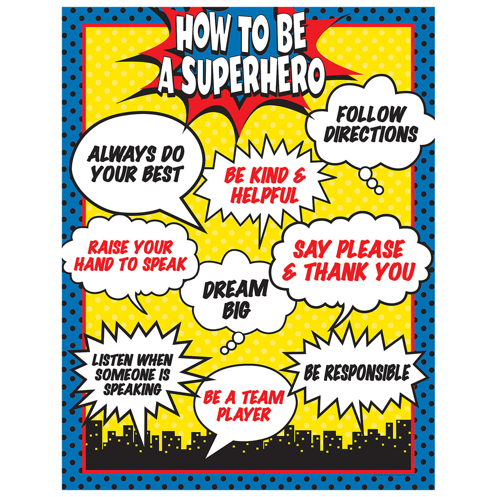 Teacher Created Resources How To Be a Superhero Chart