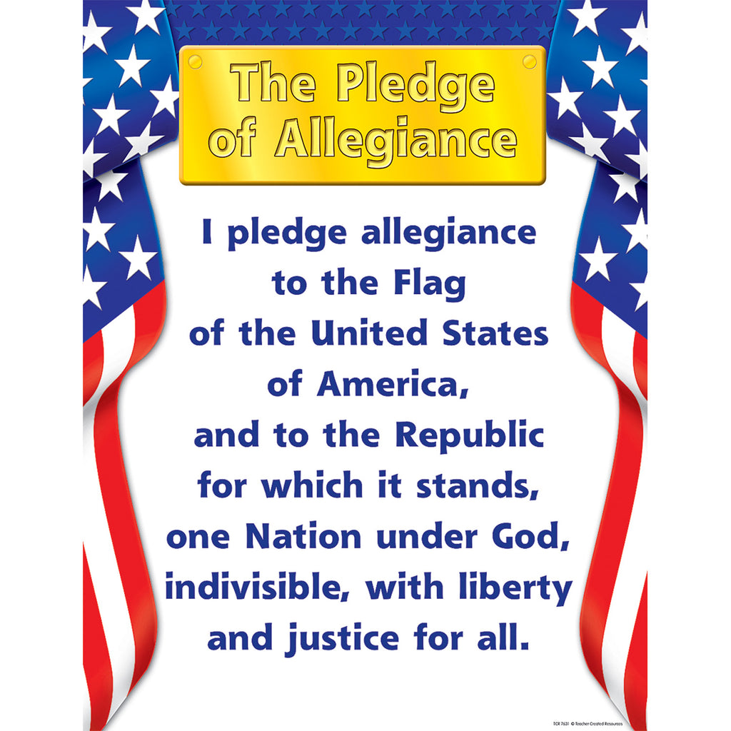 Teacher Created Resources Pledge of Allegiance Chart