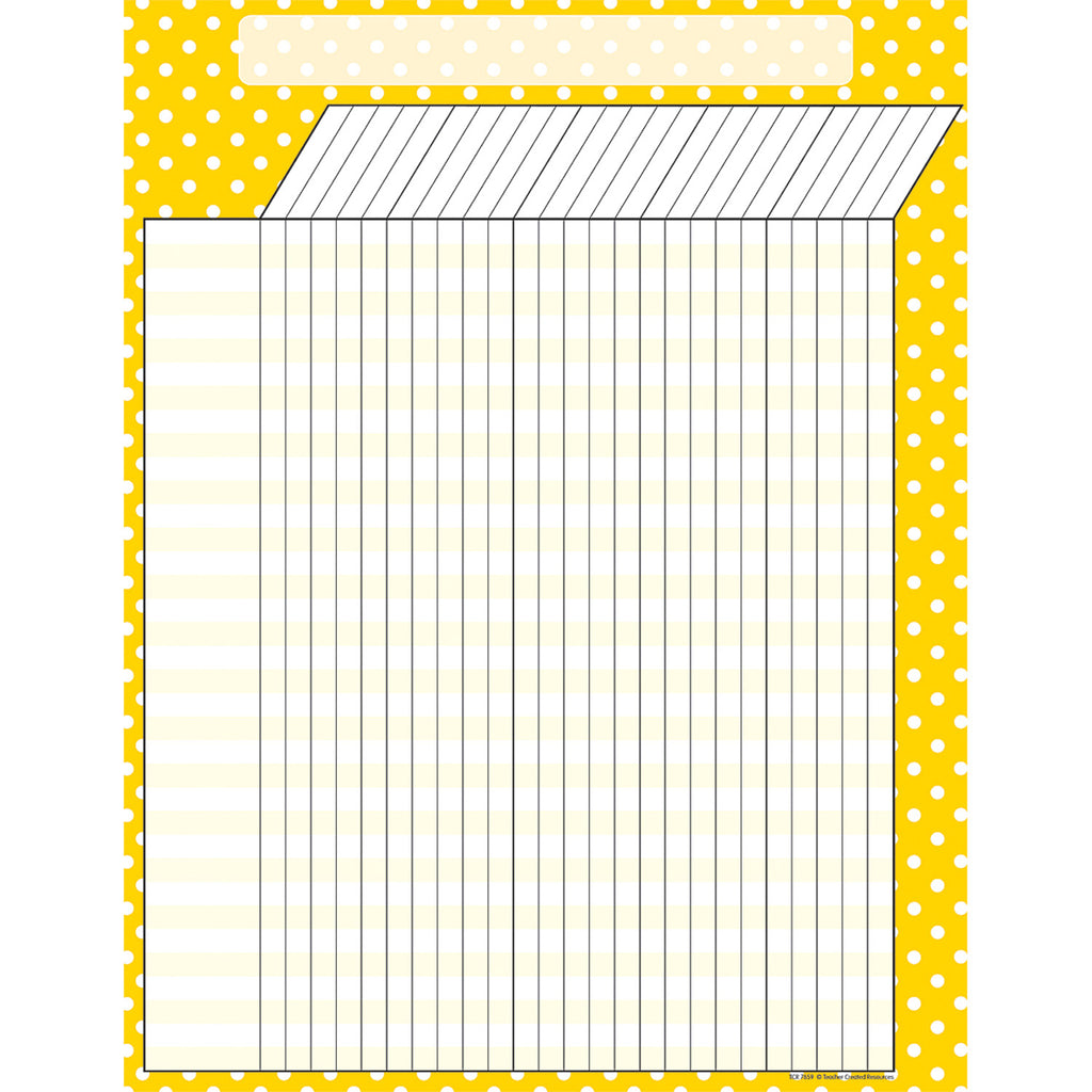 Teacher Created Resources Yellow Polka Dots Incentive Chart