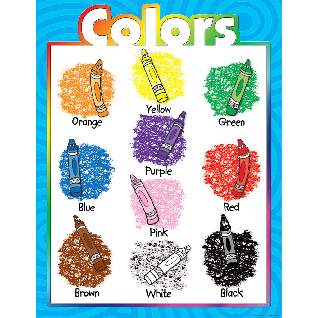 Teacher Created Resources Colors Chart