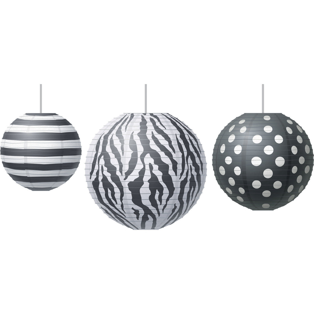 Teacher Created Resources Paper Lanterns, Big Bold Black & White