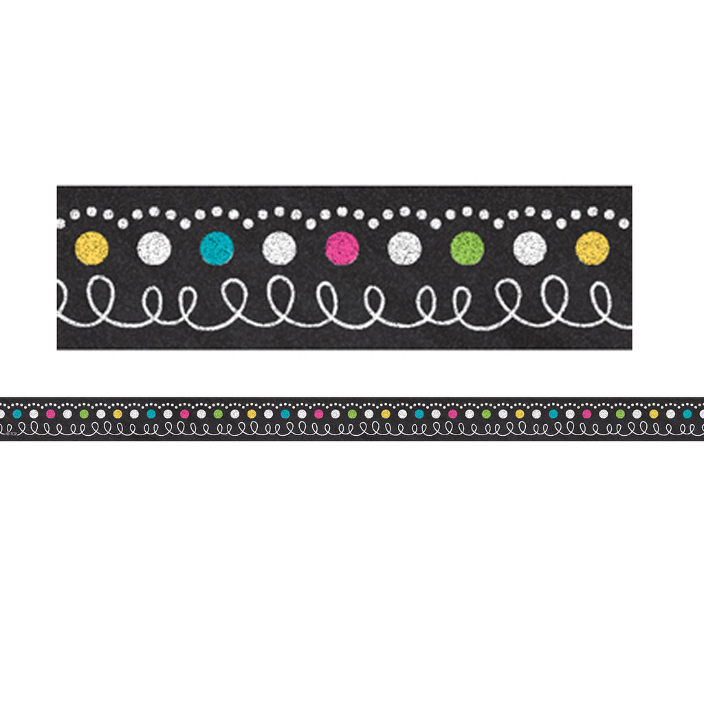 Teacher Created Resources Chalkboard Brights Magnetic Strips