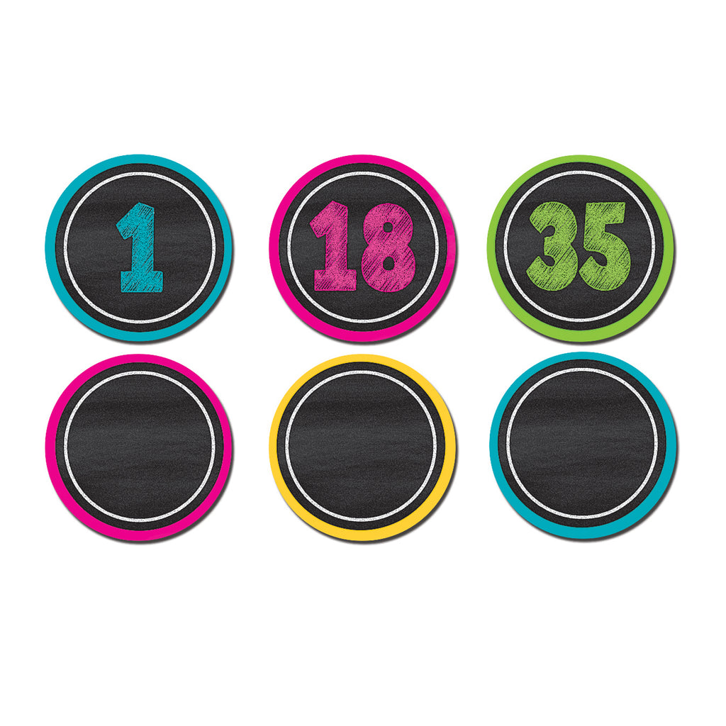 Teacher Created Resources Chalkboard Brights Numbers Magnetic Accents