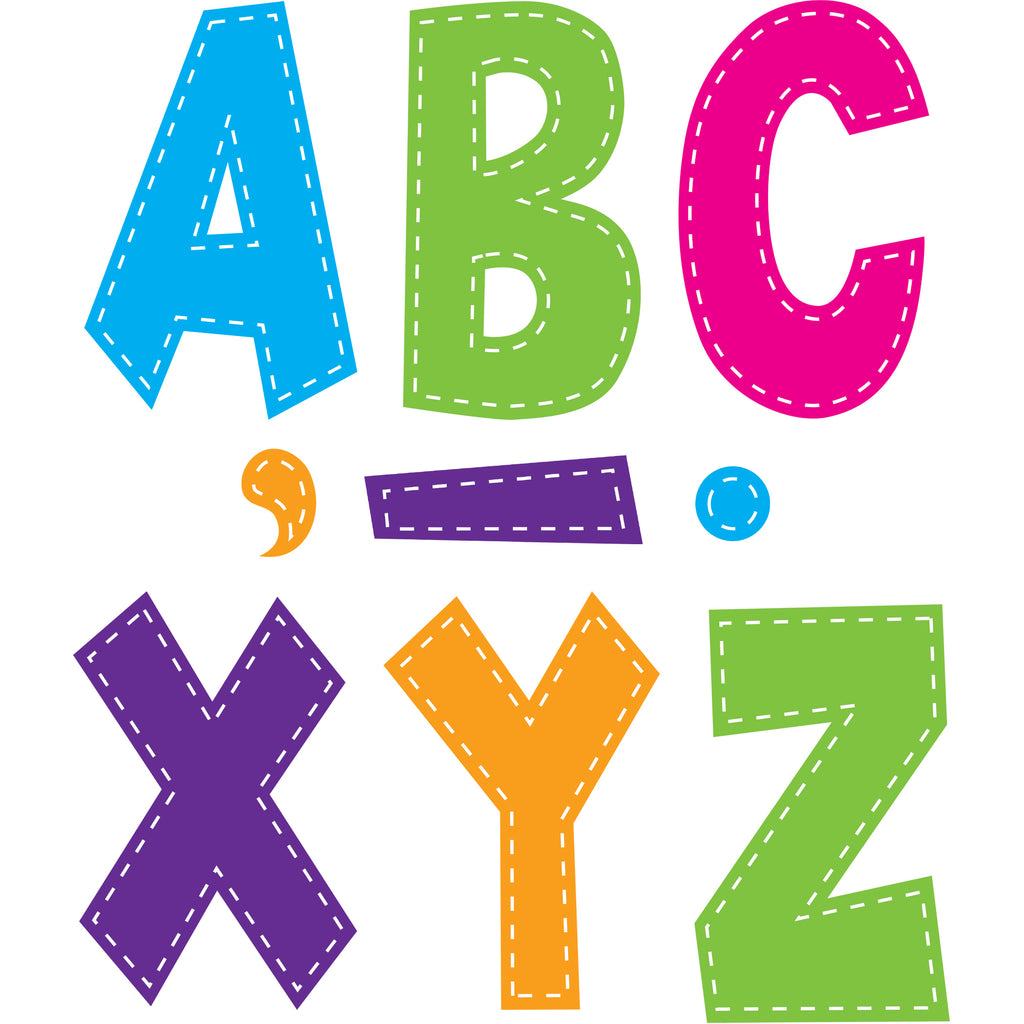 "Teacher Created Resources Multi Bright Stitch 7"" Fun Font Letters"