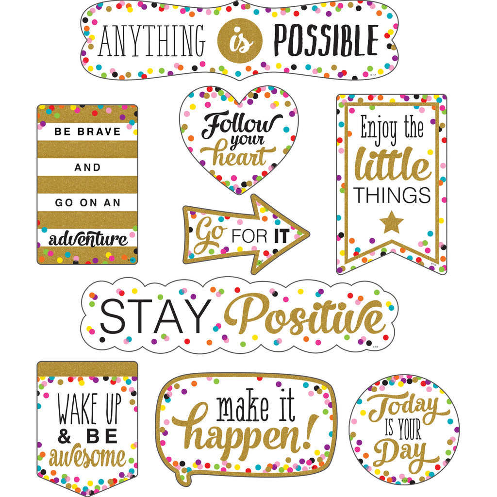 Teacher Created Resources Clingy Thingies Confetti Positive Sayings Accents