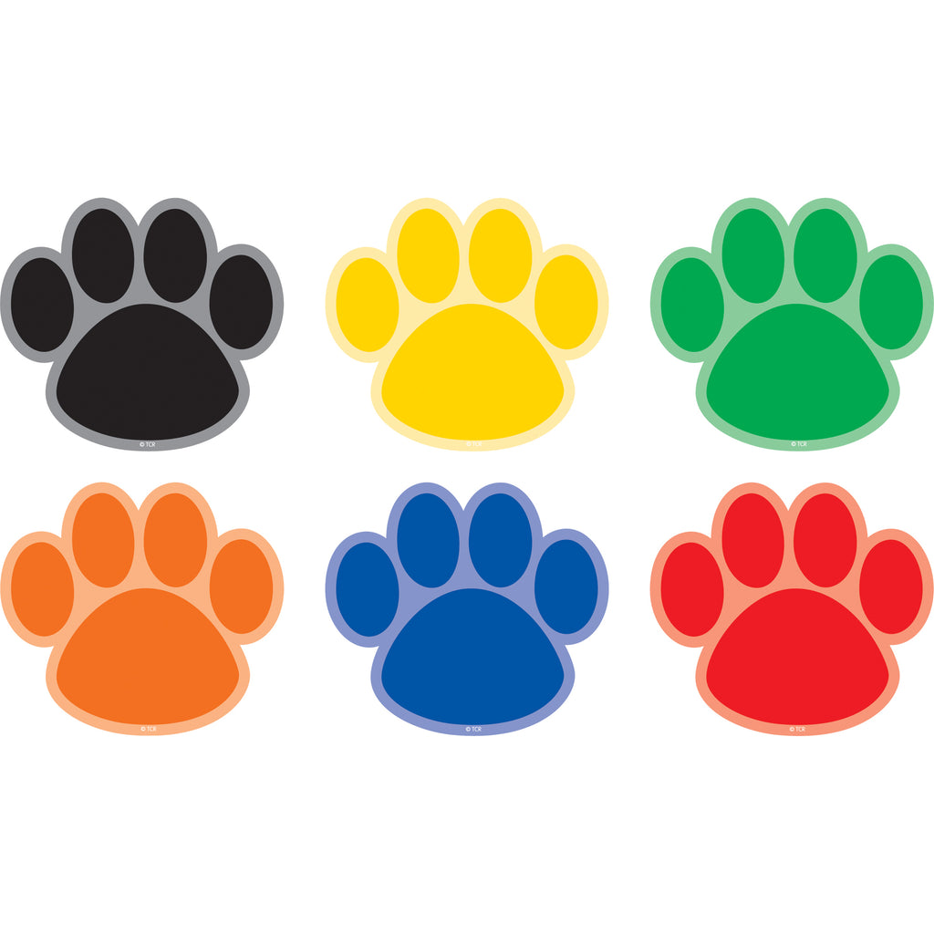 Teacher Created Resources Paw Prints Spot On Carpet Markers