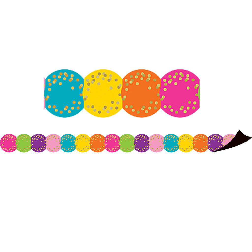 Teacher Created Resources Confetti Circles Die Cut Magnetic Border