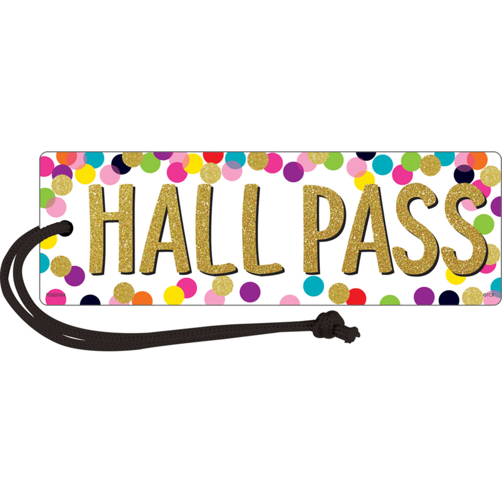 Teacher Created Resources Confetti Magnetic Hall Pass