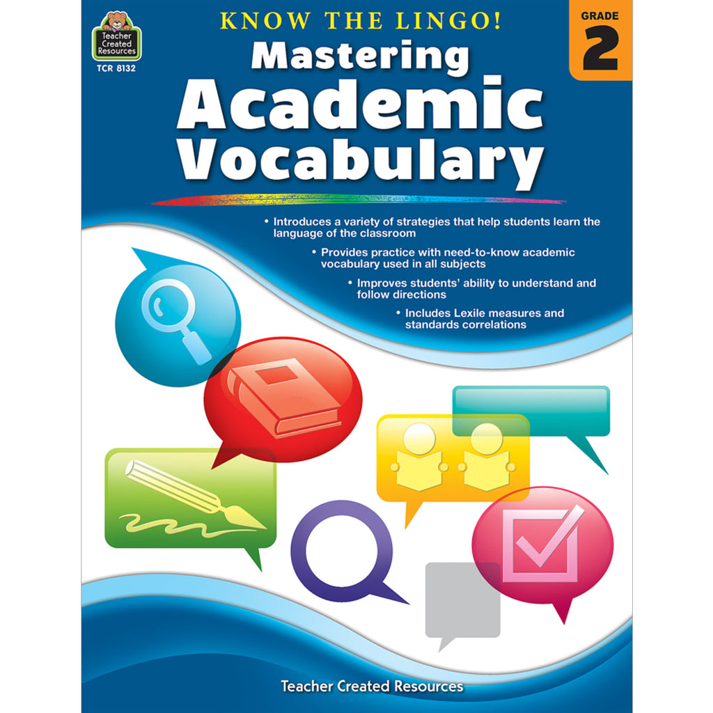 Teacher Created Resources Know the Lingo! Mastering Academic Vocabulary, Grade 2