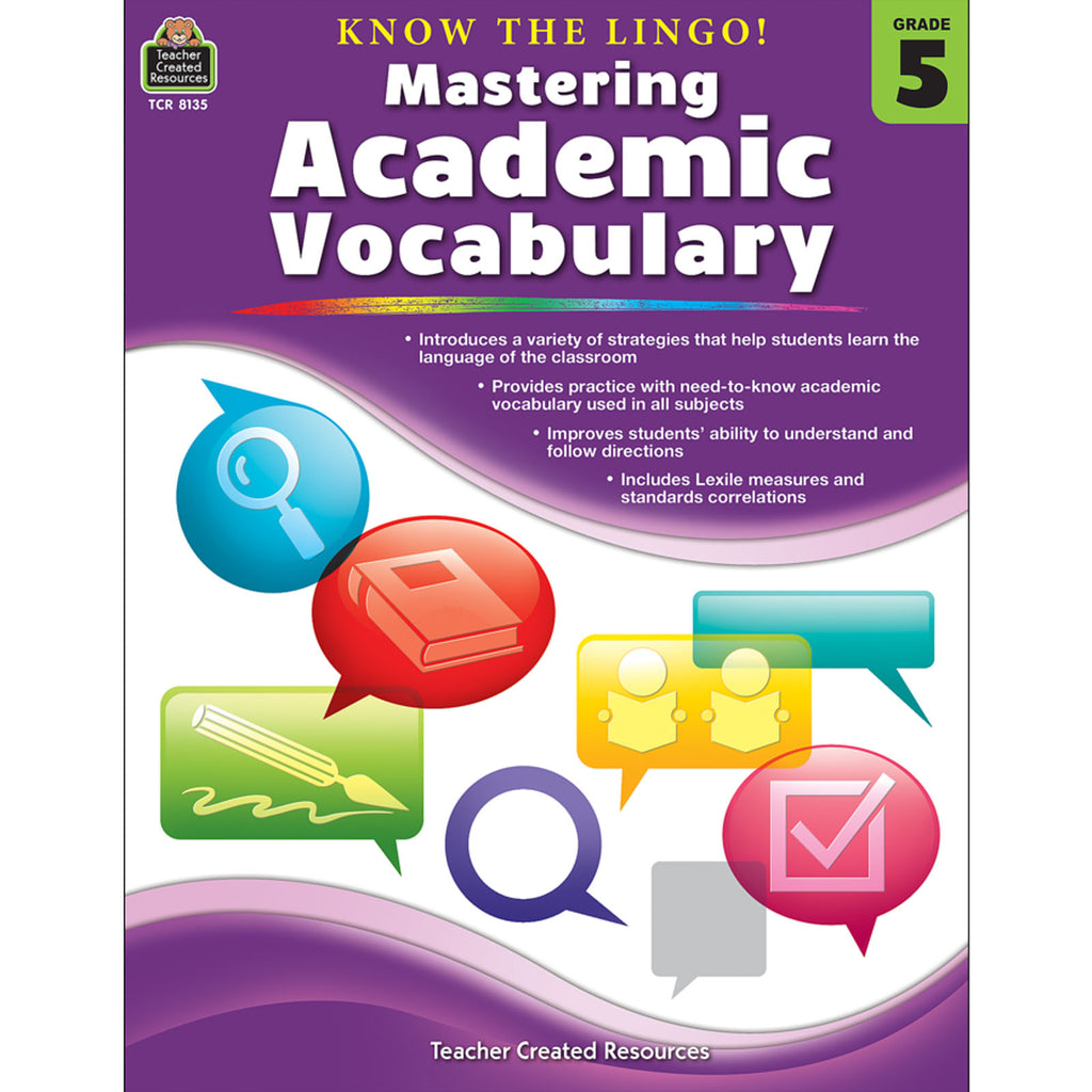 Teacher Created Resources Know the Lingo! Mastering Academic Vocabulary, Grade 5