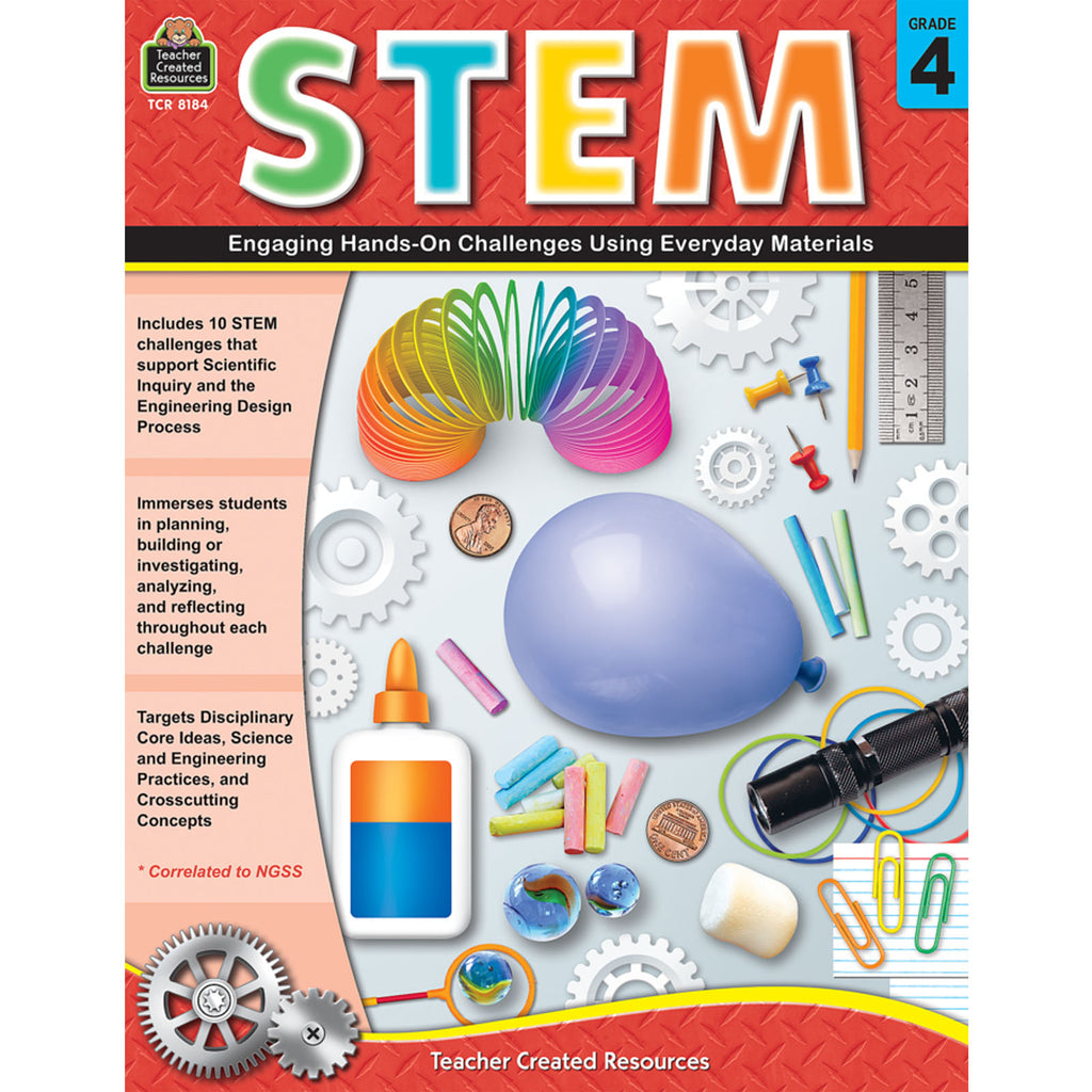 Teacher Created Resources STEM: Engaging Hands On Challenges Using Everyday Materials, Grade 4