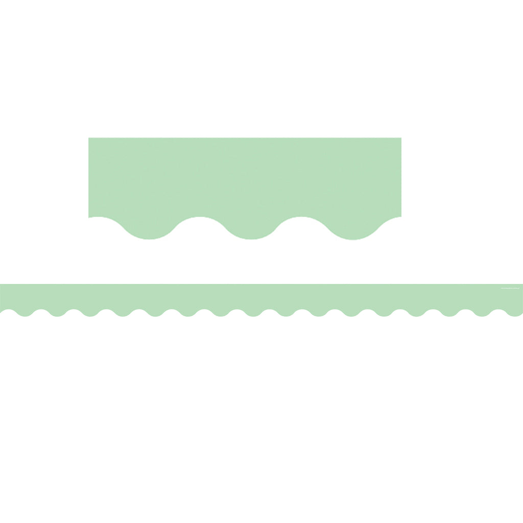 Teacher Created Resources Mint Green Scalloped Bulletin Board Border