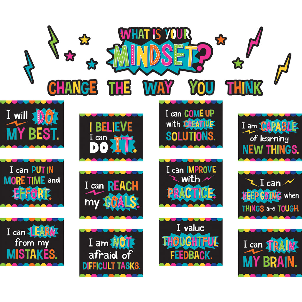 Teacher Created Resources What is Your Mindset? Bulletin Board Set