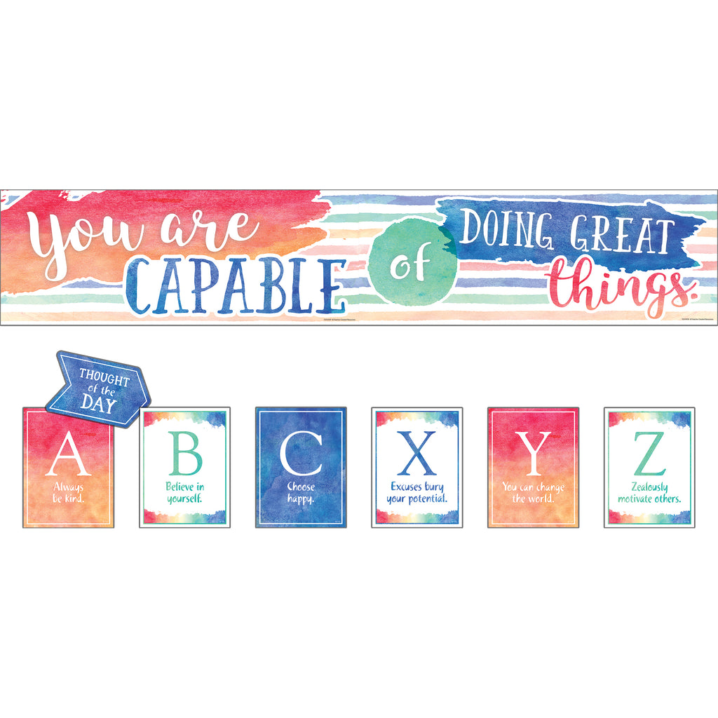 Teacher Created Resources You Are Capable of Doing Great Things Bulletin Board Set
