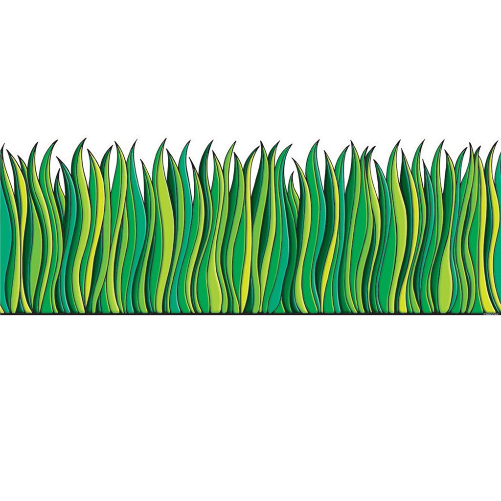 Scholastic Tall Green Grass Jumbo Border