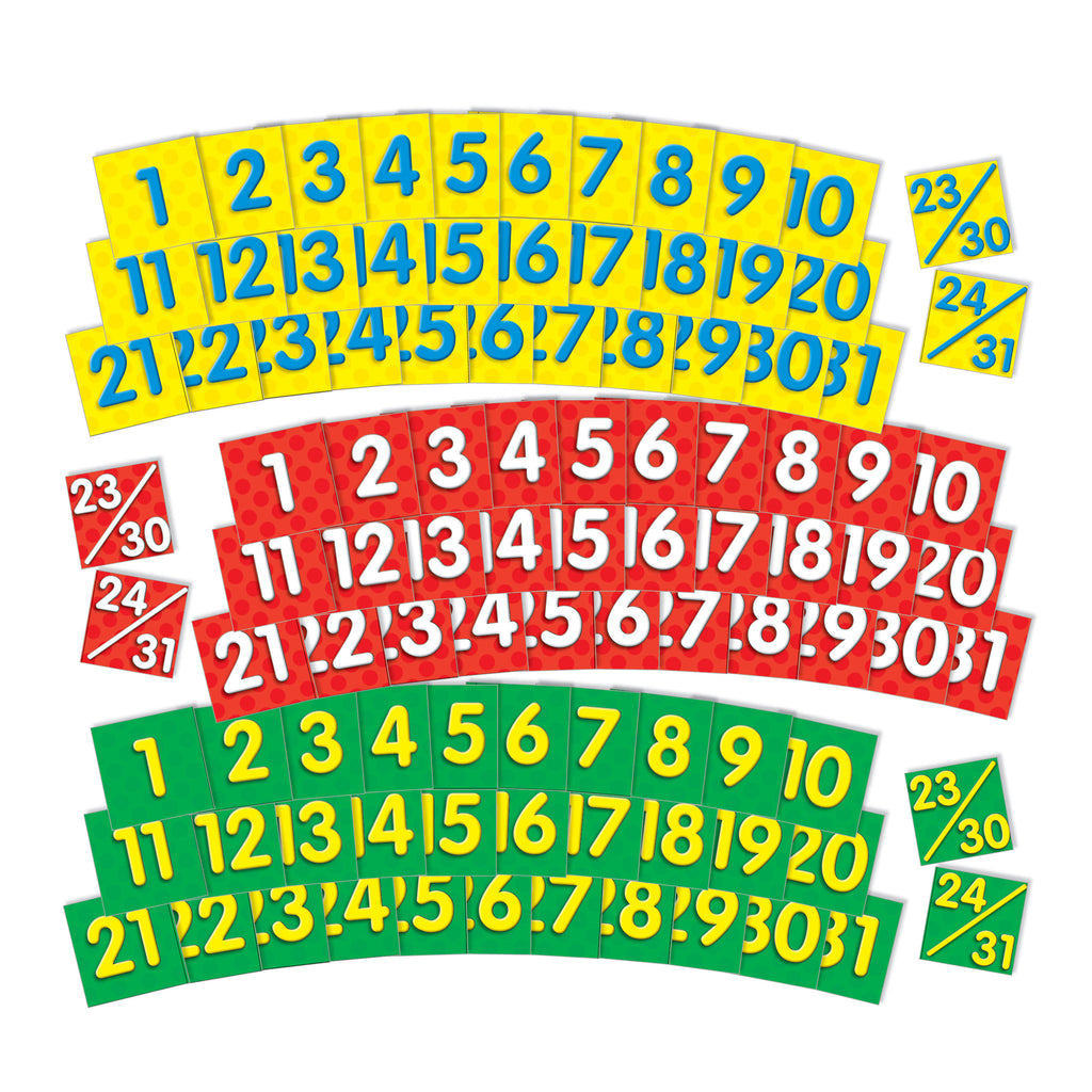 Scholastic Calendar Dates Pocket Chart Add Ons 2 Colored Sets Of Dates
