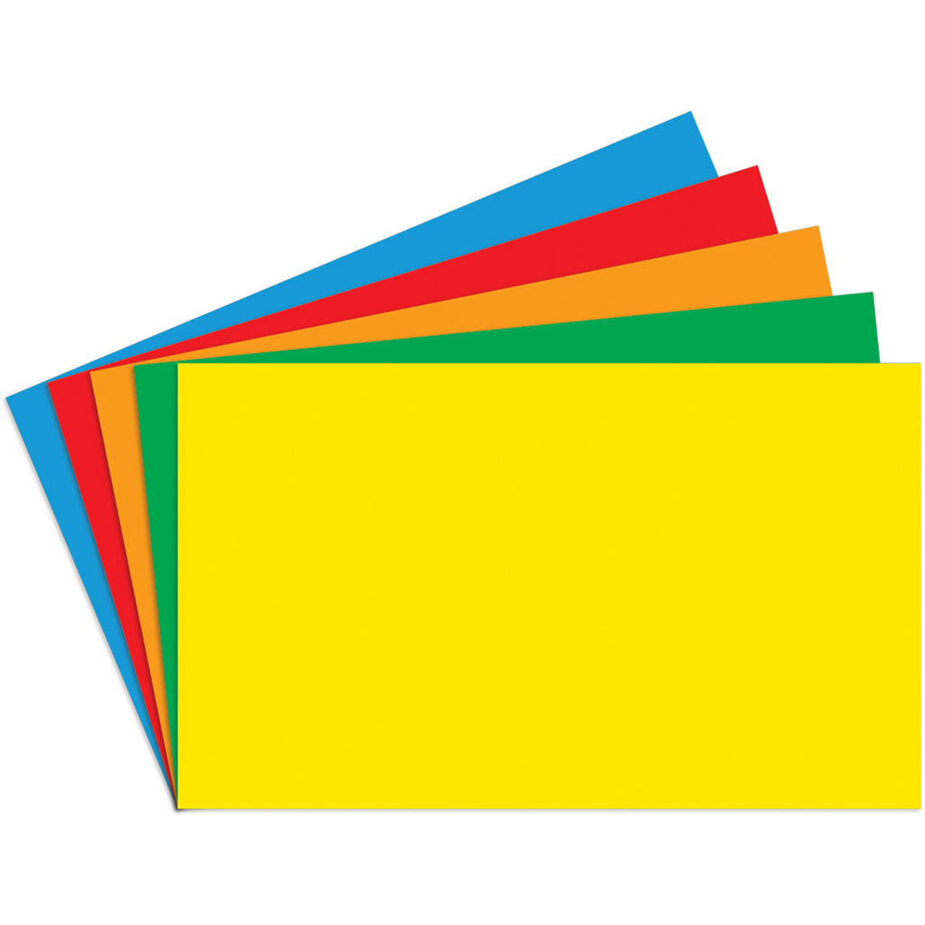 Top Notch Teacher Border Index Cards 3 x 5 Blank, Primary Colors, 100 Count