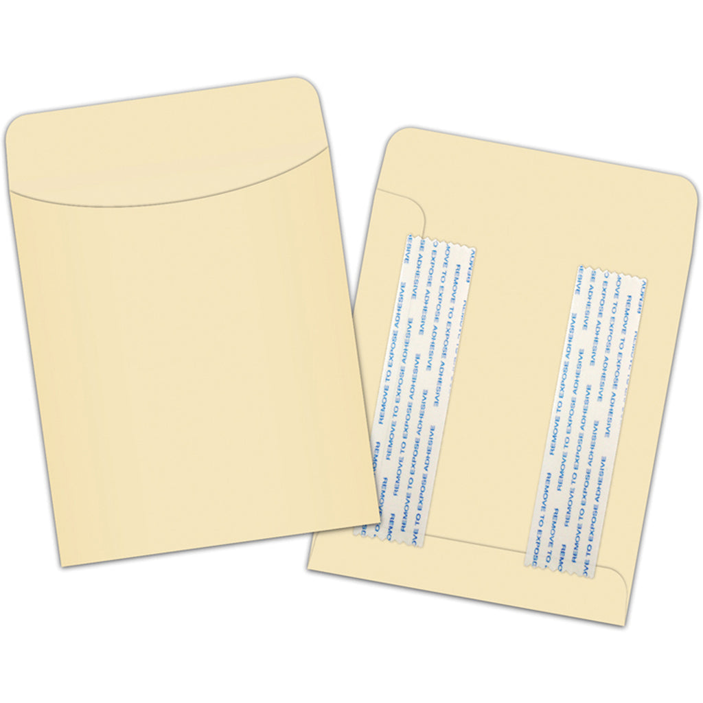 Top Notch Teacher Manila Library Pockets Peel & Stick, 25Pk