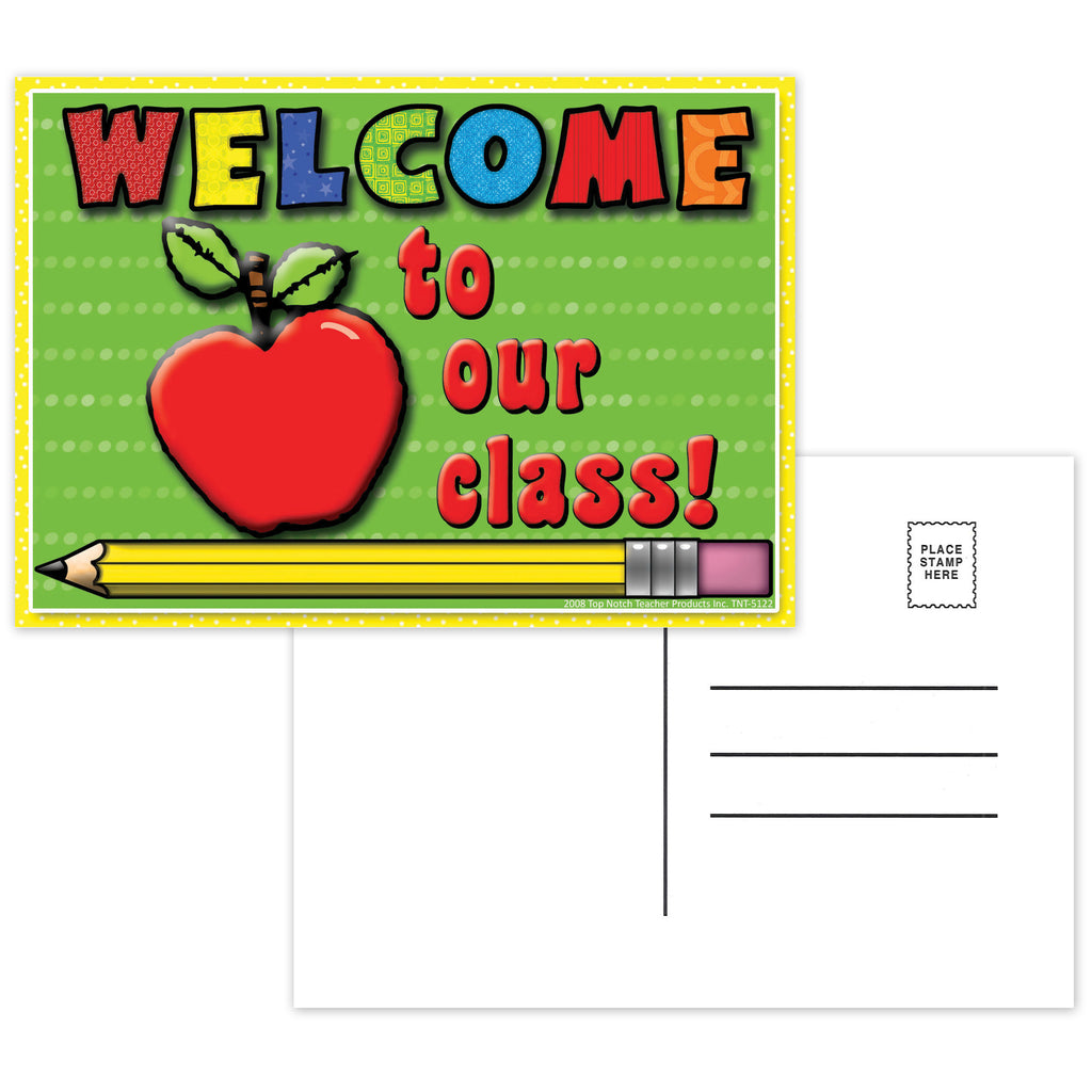 Top Notch Teacher Welcome To Our Class Postcards 30Pk