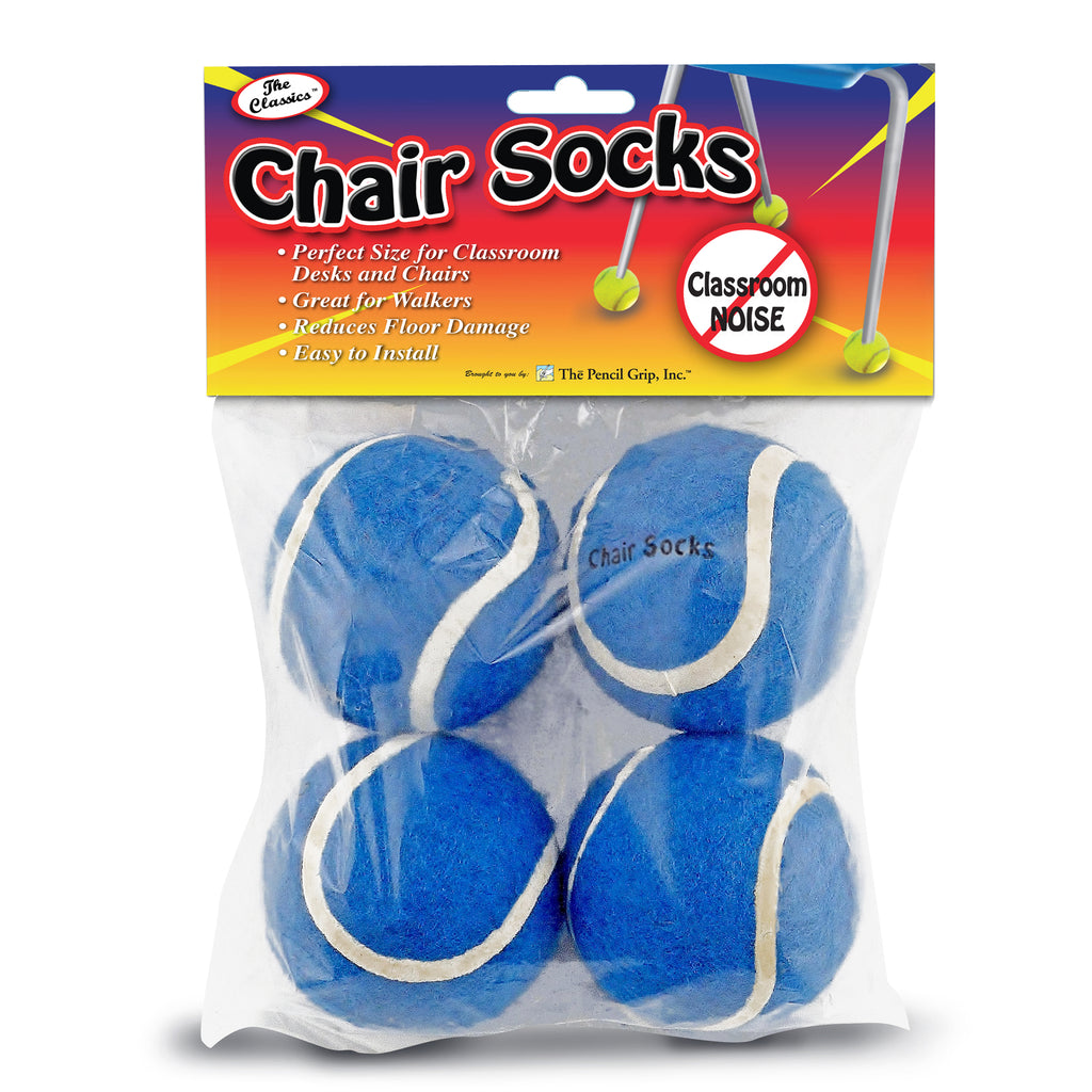 The Pencil Grip Blue Chair Socks, 4 Count