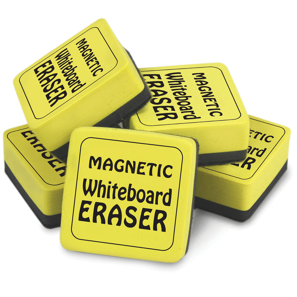 The Pencil Grip Magnetic Whiteboard Erasers 12Pk, 2 Inch x 2 Inch