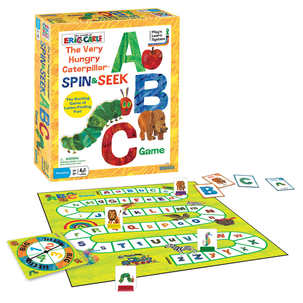 University Games The Very Hungry Caterpillar Spin & Seek ABC Game