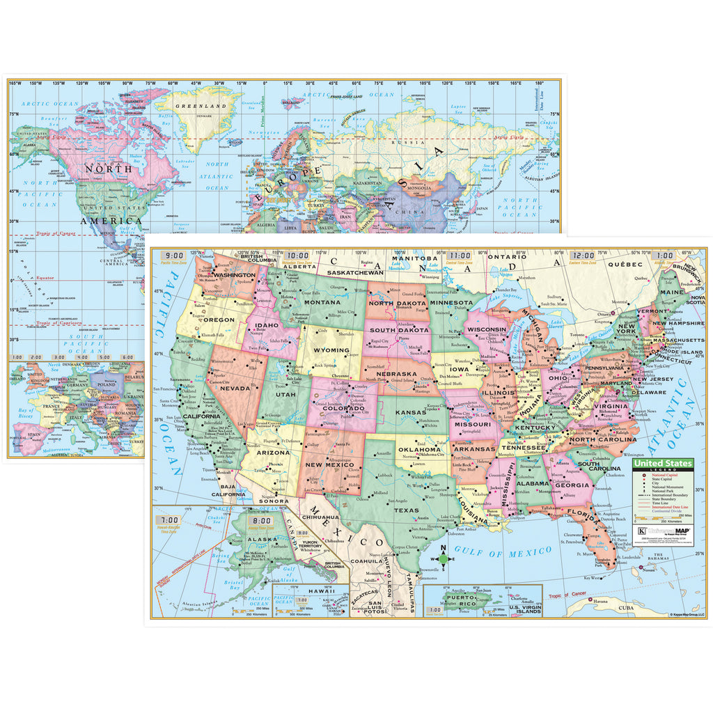 KAPPA Map Group U.S. & World Wall Maps (Paper)