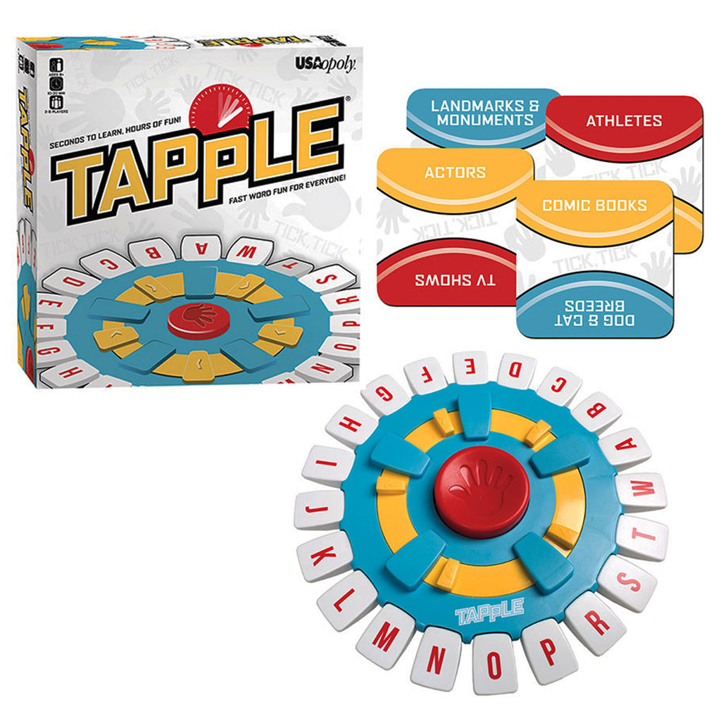 USAopoly Tapple® – Fast Word Fun for the Whole Family!