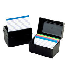 Oxford Plastic Index Card Boxes 3 x 5