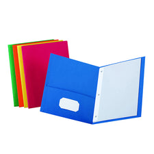 Twin Pocket Portfolios 25/Box Assorted Colors
