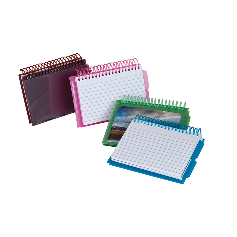 View Front Spiral Index Cards 3 x 5 Poly Cover