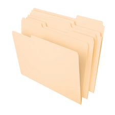 File Folders Letter 1/3 Cut Tab, 100 Per Box