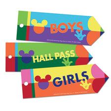Geo Mickey® Hall Passes