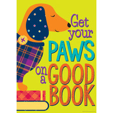 "Plaid Attitude ""Paws on a Good Book"" Poster"