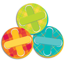 Plaid Attitude Buttons Paper Cut-Outs