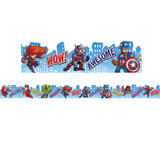 Marvel™ Super Hero Adventure City Scape Deco Trim® Extra Wide Die Cut