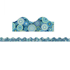 Blue Harmony Mandala Scalloped Deco Trim®