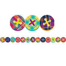 Plaid Attitude Buttons Deco Trim® Extra-Wide Die Cut