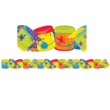 Color My World Paint Buckets Extra Wide Die Cut Deco Trim®