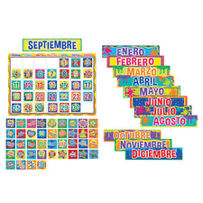 Color My World Calendar Bulletin Board Set (Spanish)