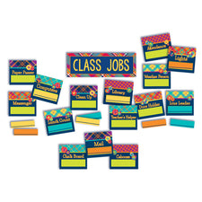 Plaid Atttude Class Jobs Mini Bulletin Board Set