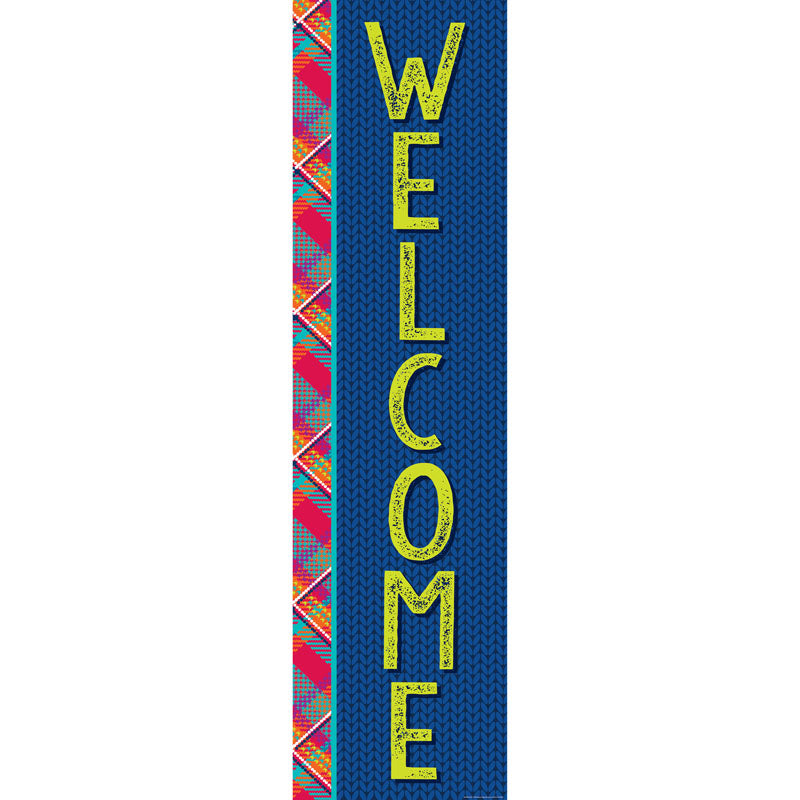 Plaid Attitude Welcome Vertical Banner