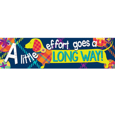 "Plaid Attitude ""A Little Effort Goes a Long Way"" Horizontal Banner"