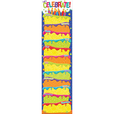 Color My World Birthday Vertical Banner