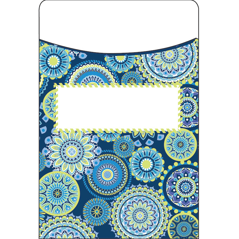 Blue Harmony Mandala Library Pockets