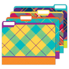 Plaid Attitude File Folders