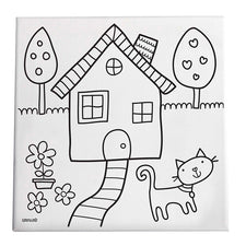 Gibby & Libby™ Paint & Create Canvas Kit - Home Sweet Home