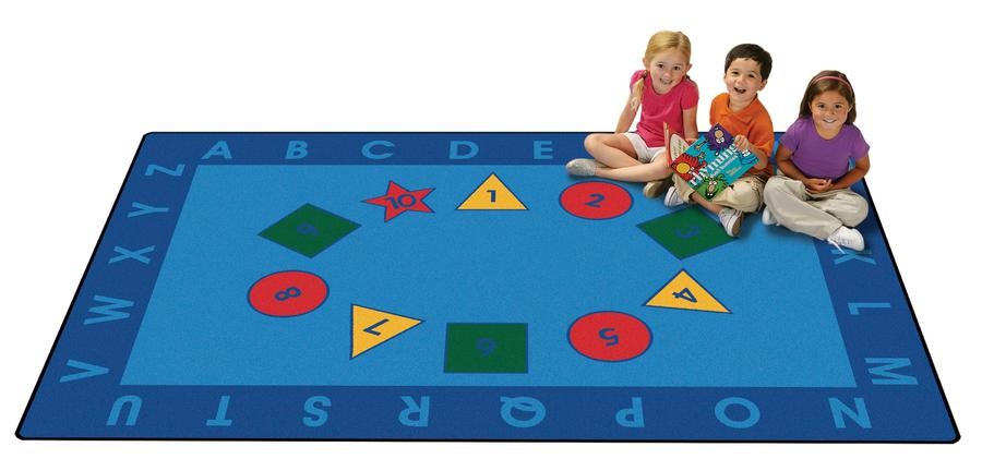 Early Learning KID$ Value PLUS Discount Classroom Circle Time Rug, 6' x 9' Rectangle