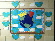 We Heart The Earth - Elementary Earth Day Bulletin Board