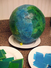 Paper Mache Globes for Earth Day!
